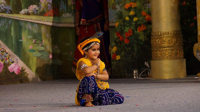 Watch the naughty leela acts of Baby Krishna in dance