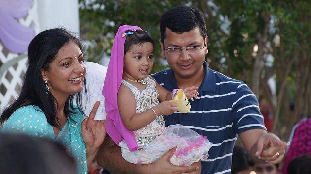 posing as Baby Radha