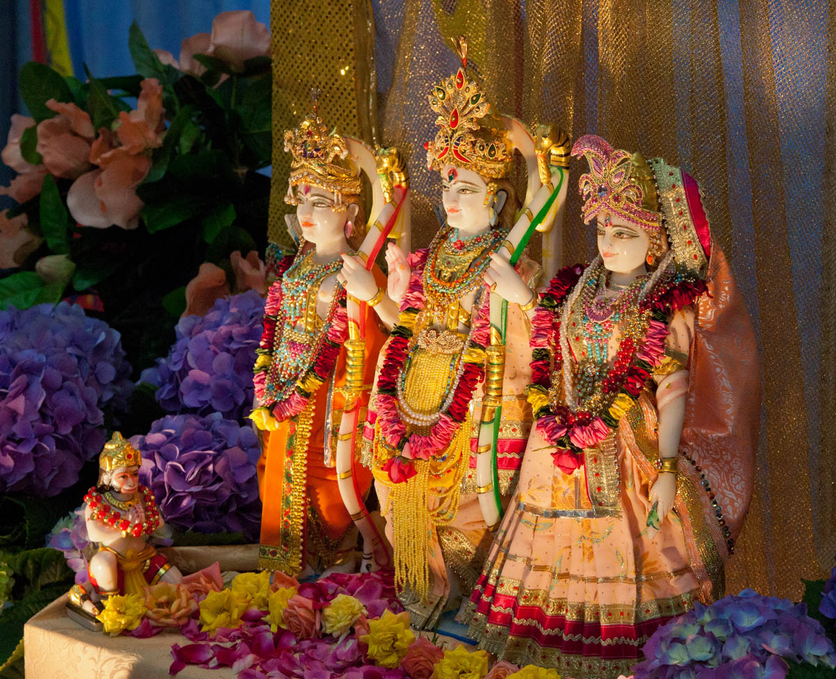 The Deities of Shree Ram, Sita, Lakshman & Hanuman ji