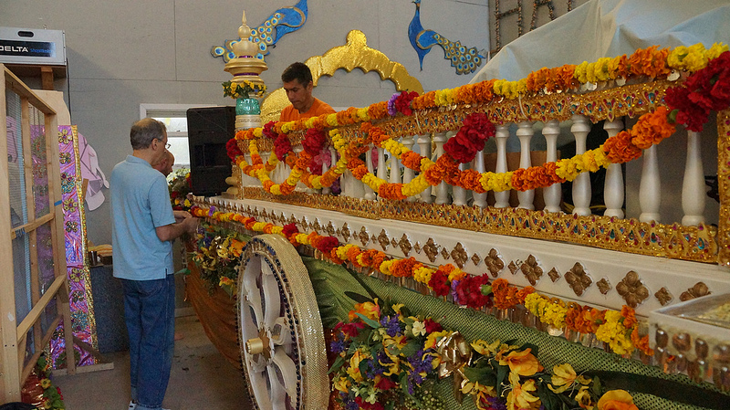 Preparartion of Shree Radha Rani's Divine Chariot