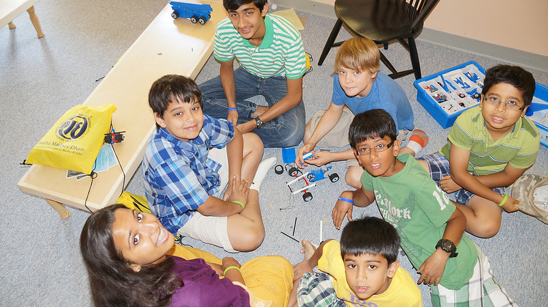 Who knows what future engineers are in the camp's robotics class?