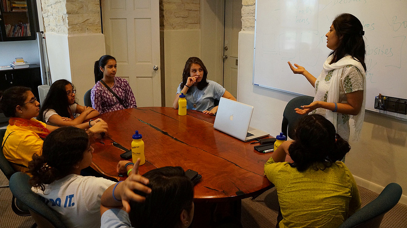 Sunita didi teaches students marketing in the modern world.