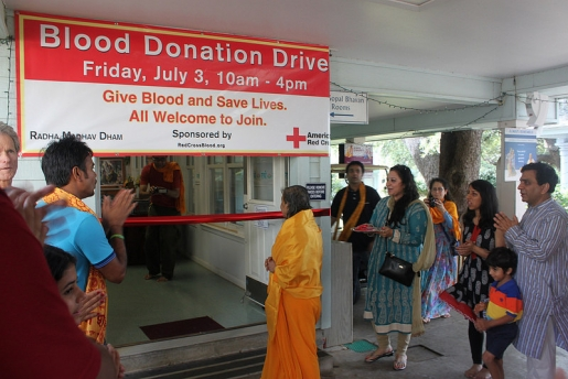 Braj Banchary Didiji opening the RMD Blood Donation Drive
