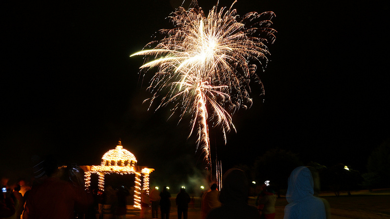 The camp celebrates a Diwali all it's own.