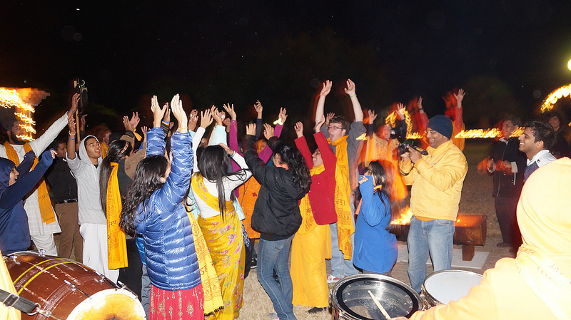 Young & old enjoy dancing to a devotional beat.