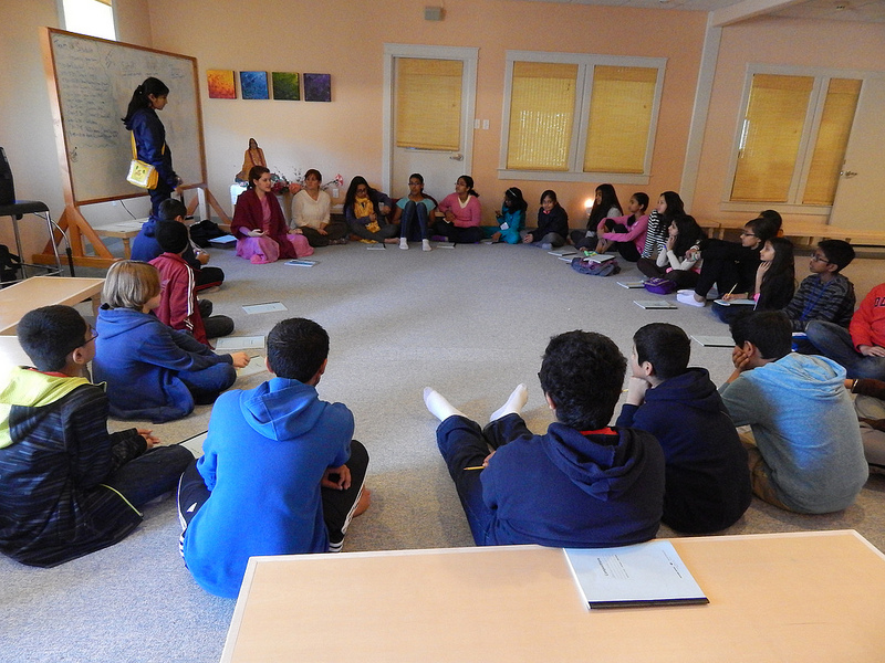 The youth discuss the challenges & advantage of being Hindu in America.