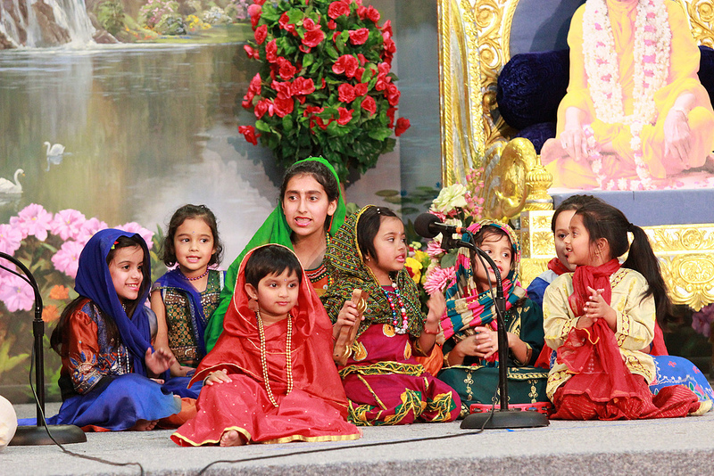 "The littlest Gopis chant, ""Kripa karu Radhey"" and melt everyone's heart."