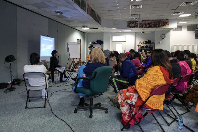 Ayurveda class teaches devotees the basics of good health.
