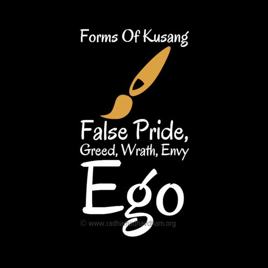 Kinds Of Kusang-False Pride