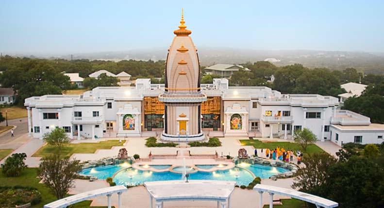 The Shree Raseshwari Radha Rani Temple and ashram complex of Radha Madhav Dham
