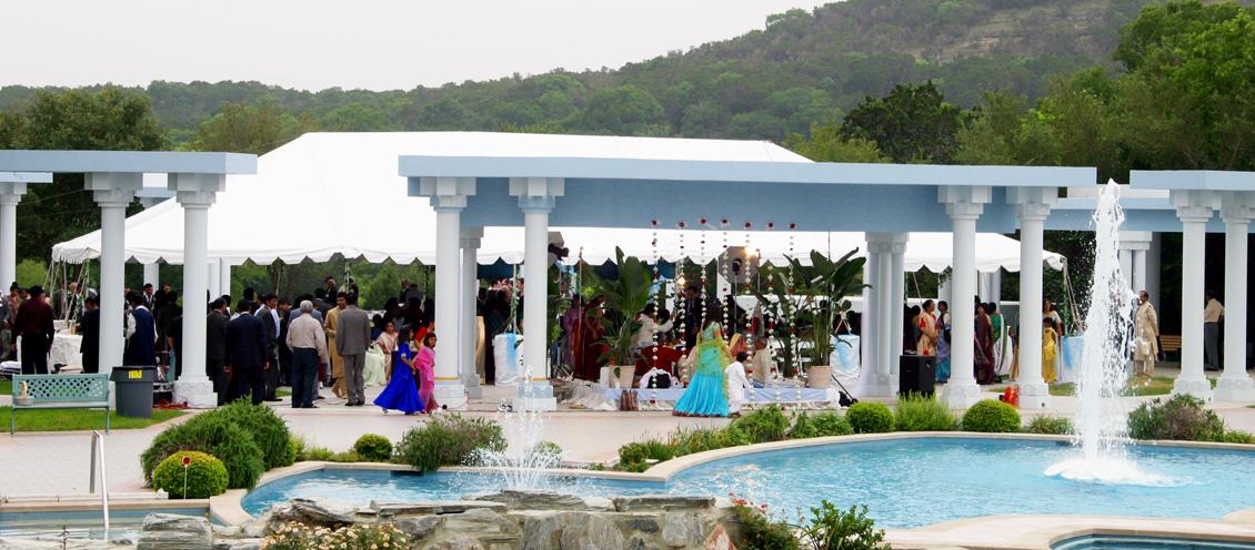 Wedding Outdoors - Maharas Mandal At Radha Madhav Dham