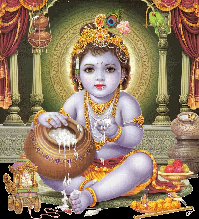 Top Cute Baby Krishna Janmashtami Images for free download