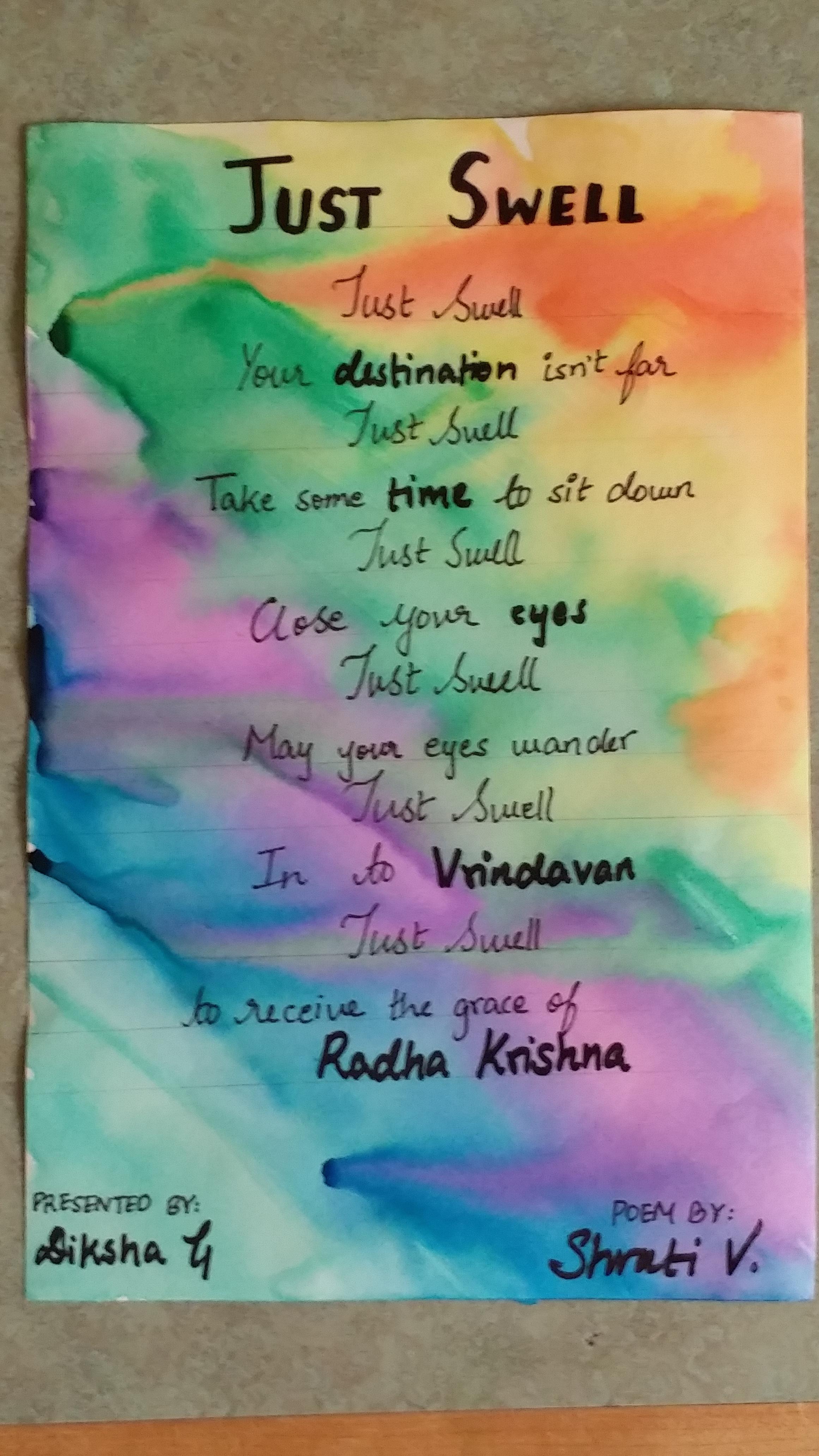 Just Swell - Poem On Jagadguru Shree Kripalu ji Maharaj