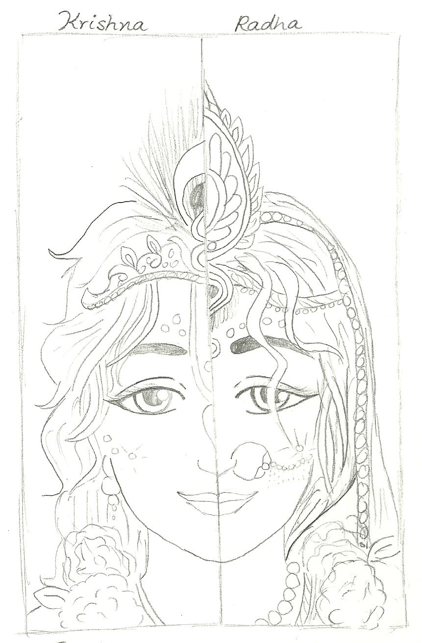 Radha Krishn Combined - Black & White