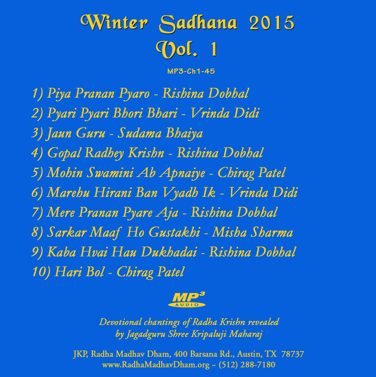 Details for MP3-Ch1-45-Winter Sadhana 2016 Vol 1